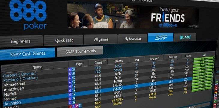 888 Покер платформа